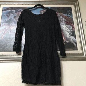 Black Lace Bodycon sz XL Material Girl